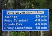 TAS Bruny Island sign